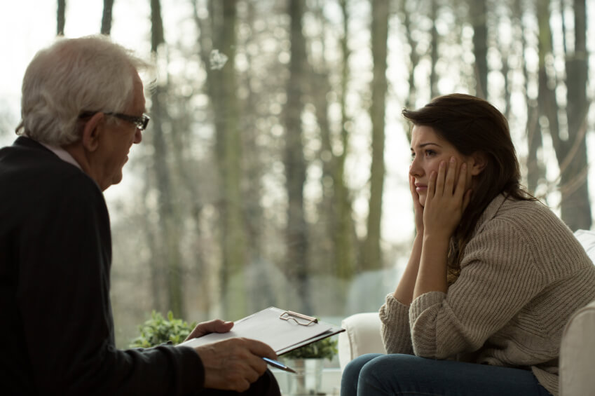 Kobieta na terapii alkoholowej